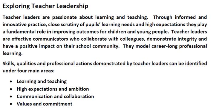 Exploring Teacher Leadership from SCEL FrameworkClick here for full text